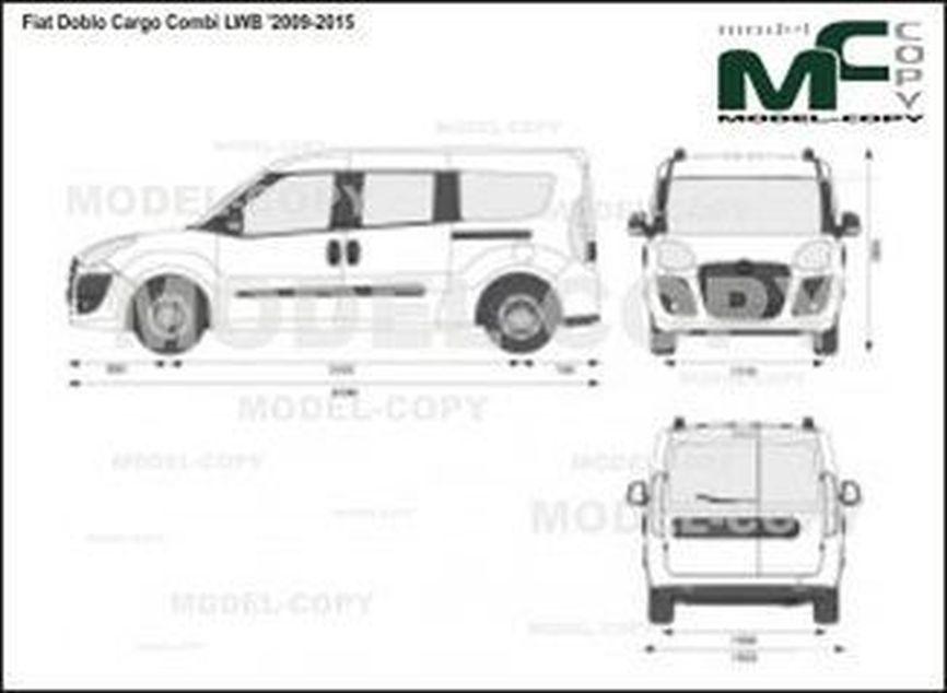 Fiat Doblo Cargo Combi LWB '2009-2015 - 2D drawing (blueprints)