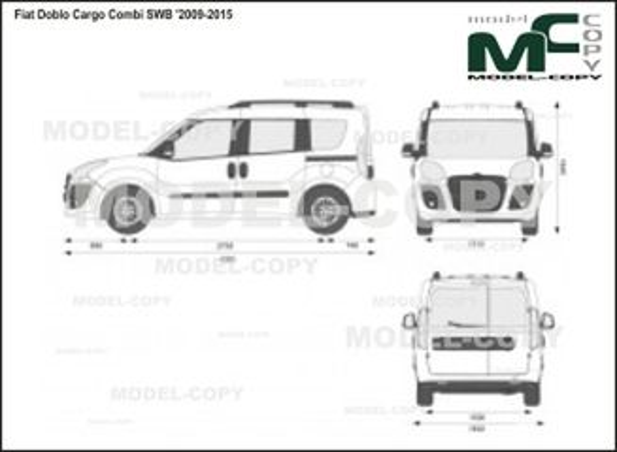 Fiat Doblo Cargo Combi SWB '2009-2015 - Dibujo 2D