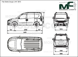 Fiat Doblo Cargo L1H1 '2015 - 2D drawing (blueprints)