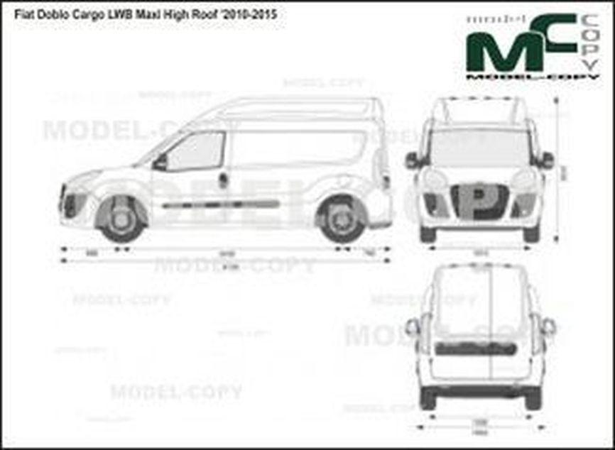 Fiat Doblo Cargo LWB Maxi High Roof '2010-2015 - 2D図面