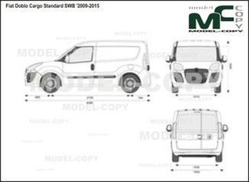 Fiat Doblo Cargo Standard SWB '2009-2015 - 2D-чертеж