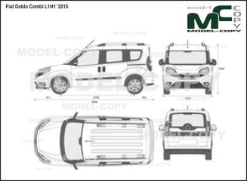 Fiat Doblo Combi L1H1 '2015 - 2D図面