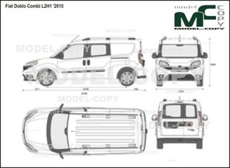 Fiat Doblo Combi L2H1 '2015 - 2D drawing (blueprints)