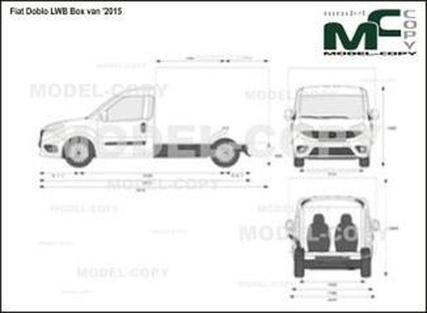Fiat Doblo LWB Box van '2015 - 2D図面