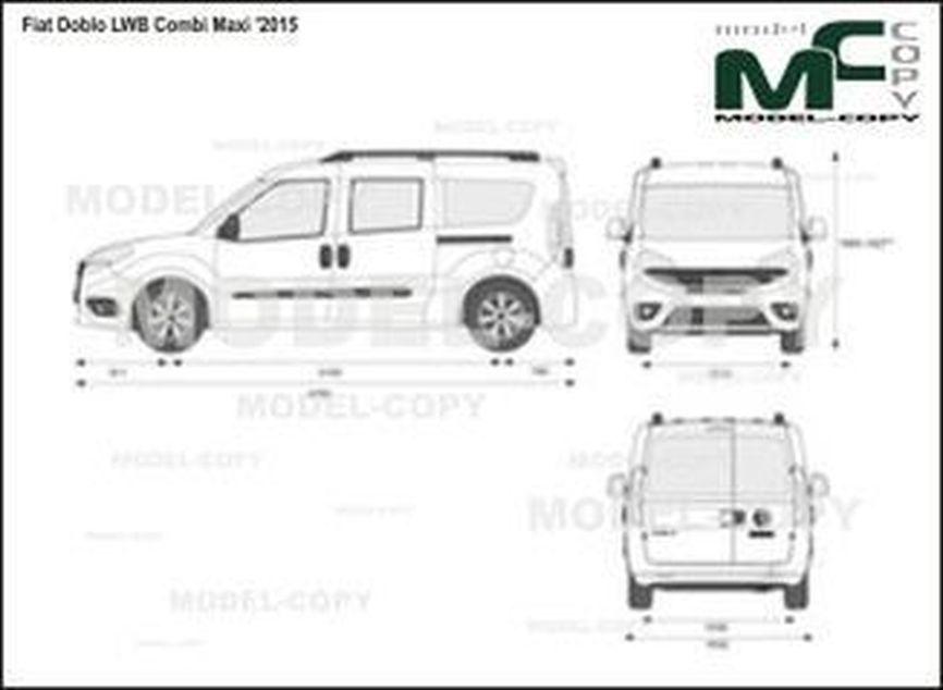 Fiat Doblo LWB Combi Maxi '2015 - 2D-чертеж