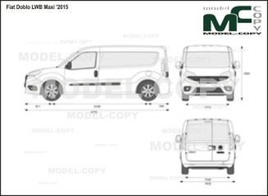 Fiat Doblo LWB Maxi '2015 - 2D drawing (blueprints)