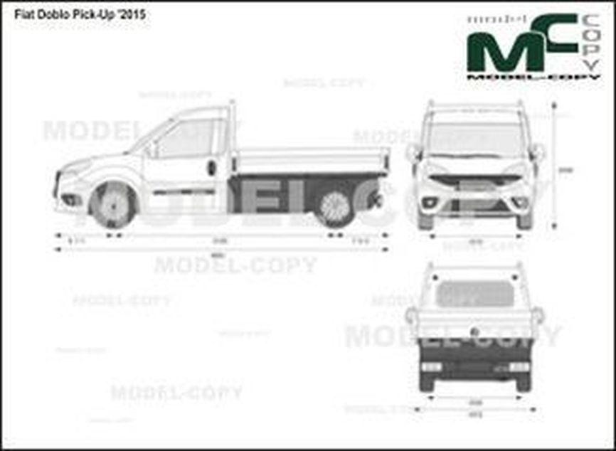 Fiat Doblo Pick-Up '2015 - 2D drawing (blueprints)