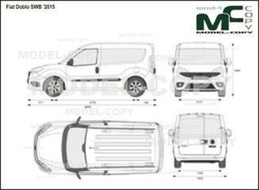 Fiat Doblo SWB '2015 - 2D-чертеж