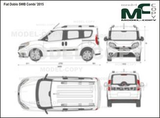Fiat Doblo SWB Combi '2015 - 2D drawing (blueprints)