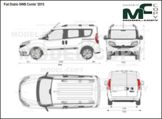 Fiat Doblo SWB Combi '2015- 2D drawing (blueprints)