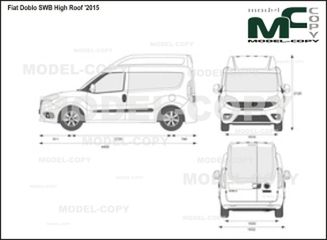 Fiat Doblo SWB High Roof '2015 - 2D-чертеж