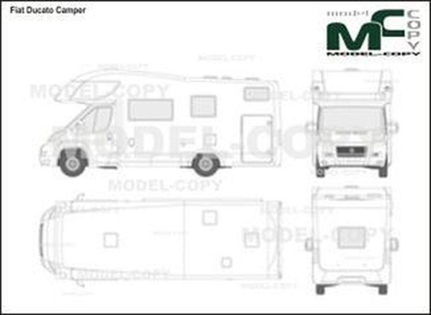 Fiat Ducato Camper - 2D-чертеж