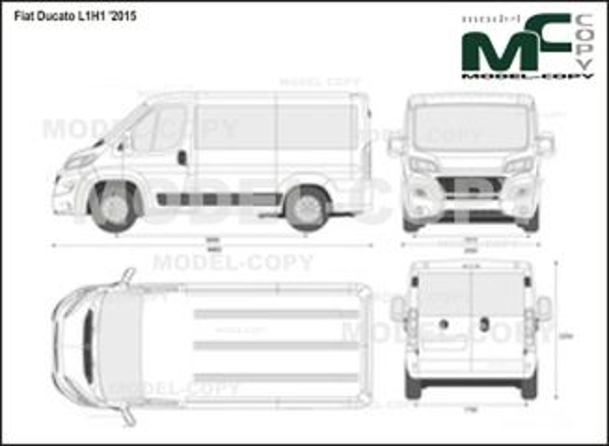 Fiat Ducato L1H1 '2015 - 2D drawing (blueprints)