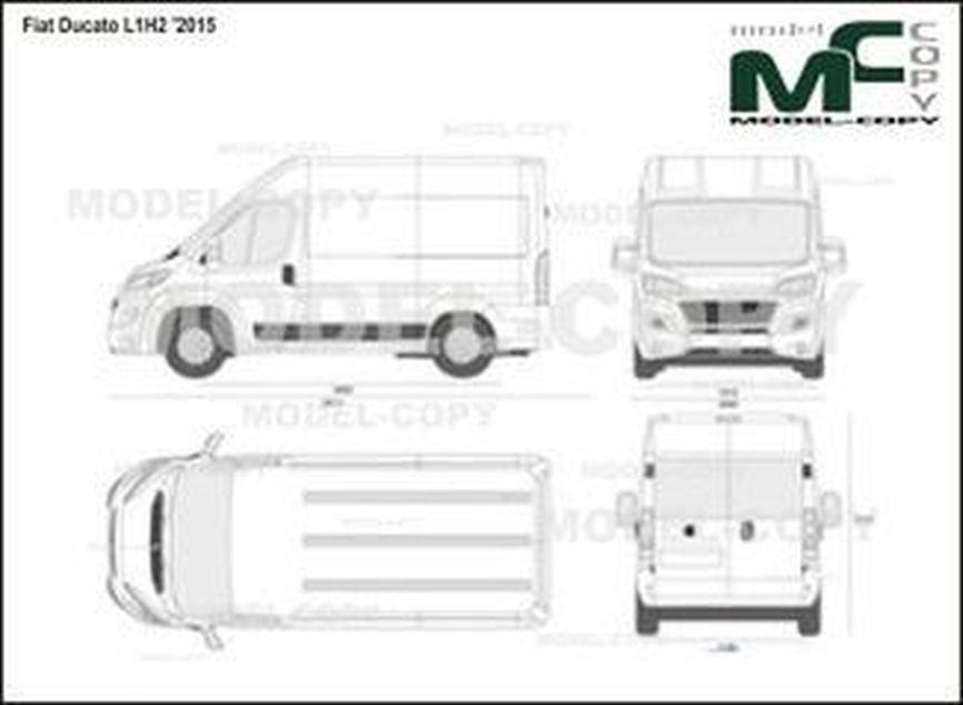 Fiat Ducato L1H2 '2015 - 2D drawing (blueprints)