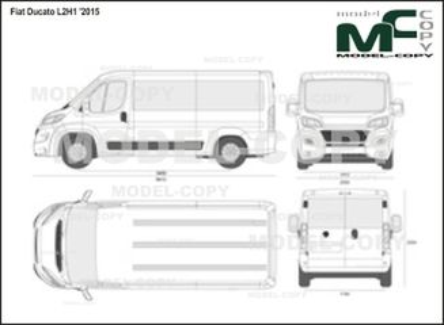 Fiat Ducato L2H1 '2015 - 2D drawing (blueprints)