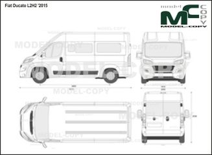 Fiat Ducato L2H2 '2015 - 2D drawing (blueprints)