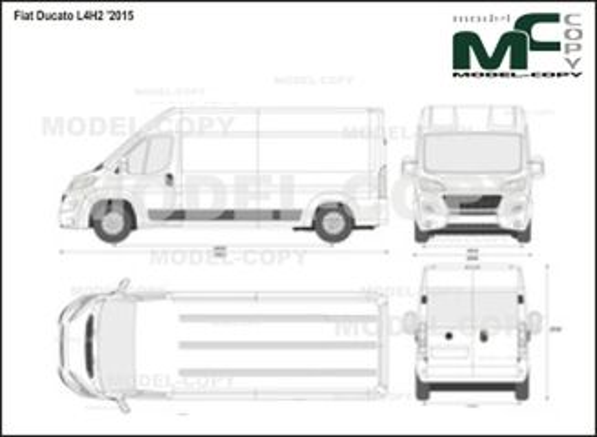 Fiat Ducato L4H2 '2015 - 2D drawing (blueprints)