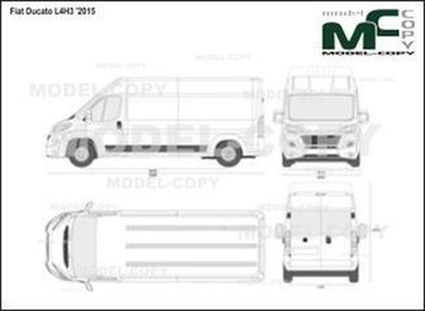 Fiat Ducato L4H3 '2015 - 2D drawing (blueprints)