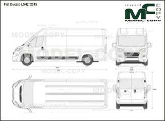 Fiat Ducato L5H2 '2015 - 2D drawing (blueprints)