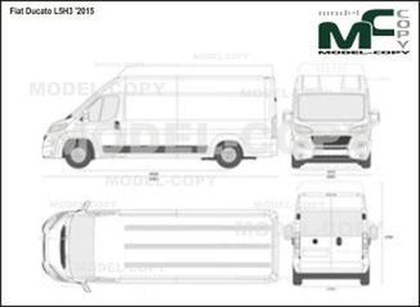 Fiat Ducato L5H3 '2015 - 2D drawing (blueprints)
