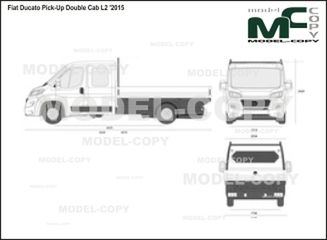 Fiat Ducato Pick-Up Double Cab L2 '2015 - 2D drawing (blueprints)