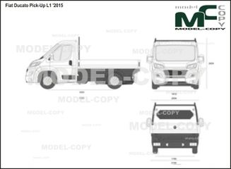 Fiat Ducato Pick-Up L1 '2015 - 2D drawing (blueprints)