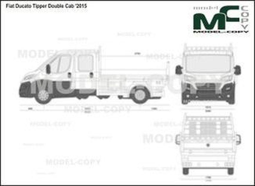 Fiat Ducato Tipper Double Cab '2015 - 2D drawing (blueprints)