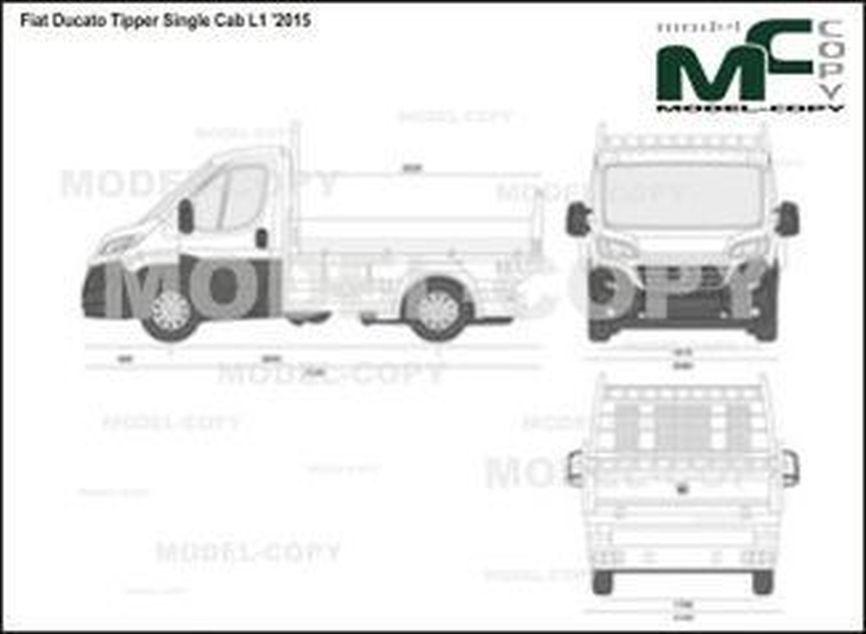 Fiat Ducato Tipper Single Cab L1 '2015 - 2D図面