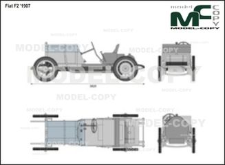 Fiat F2 '1907 - 2D drawing (blueprints)