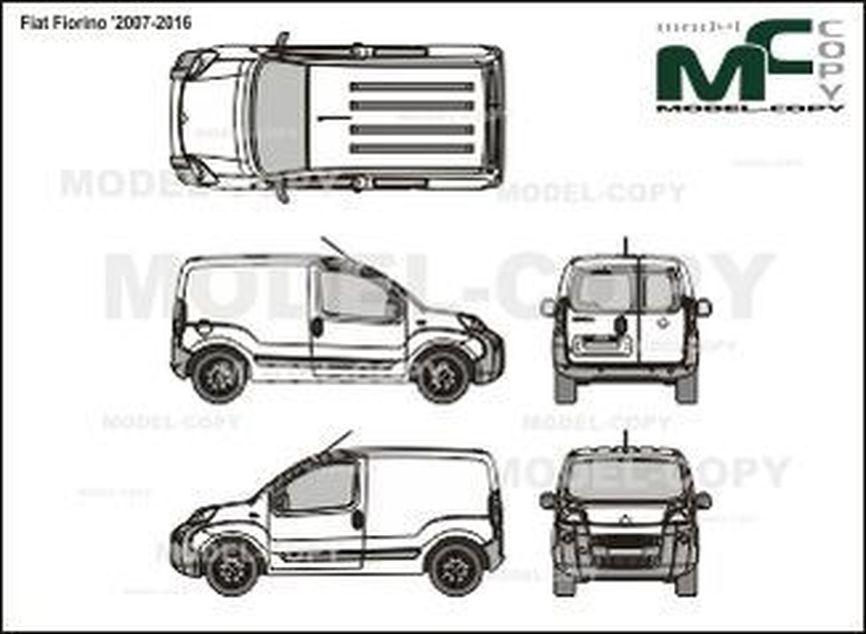 Fiat Fiorino '2007-2016 - 2D図面