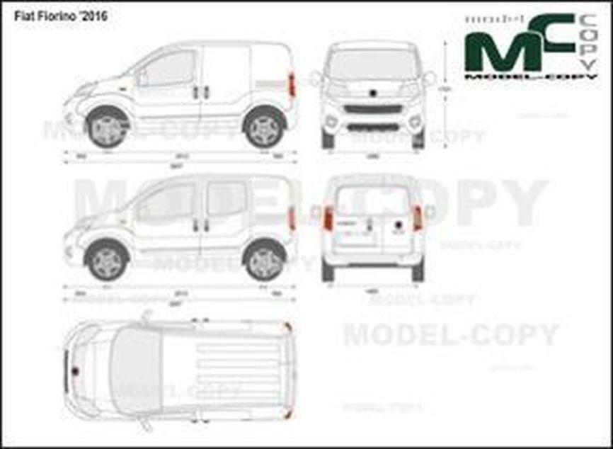 Fiat Fiorino '2016 - 2D drawing (blueprints)