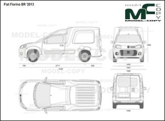 Fiat Fiorino BR '2013 - 2D drawing (blueprints)