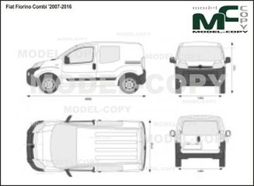 Fiat Fiorino Combi '2007-2016 - 2D drawing (blueprints)