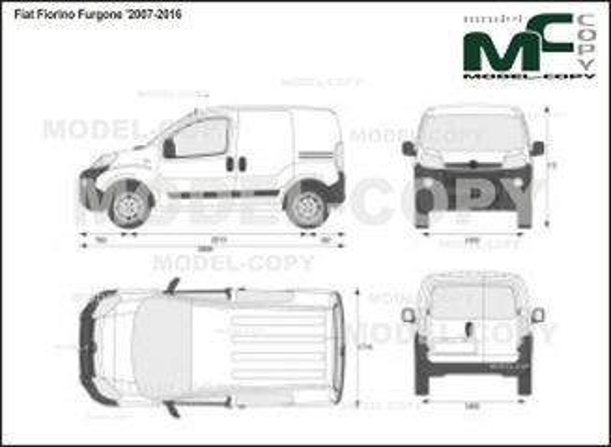 Fiat Fiorino Furgone '2007-2016 - 2D図面