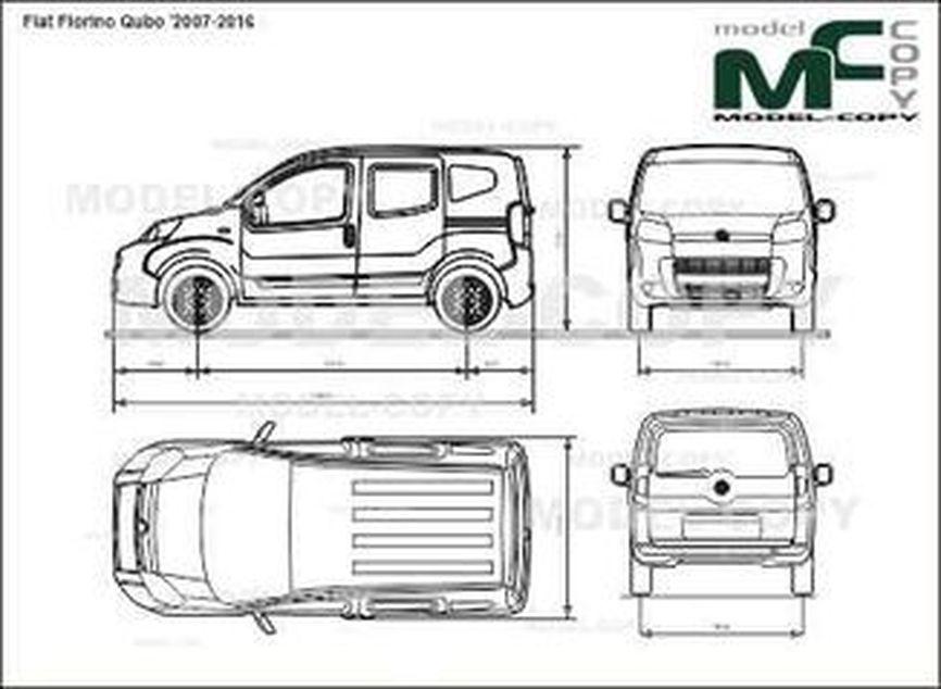 Fiat Fiorino Qubo '2007-2016 - 2D-чертеж