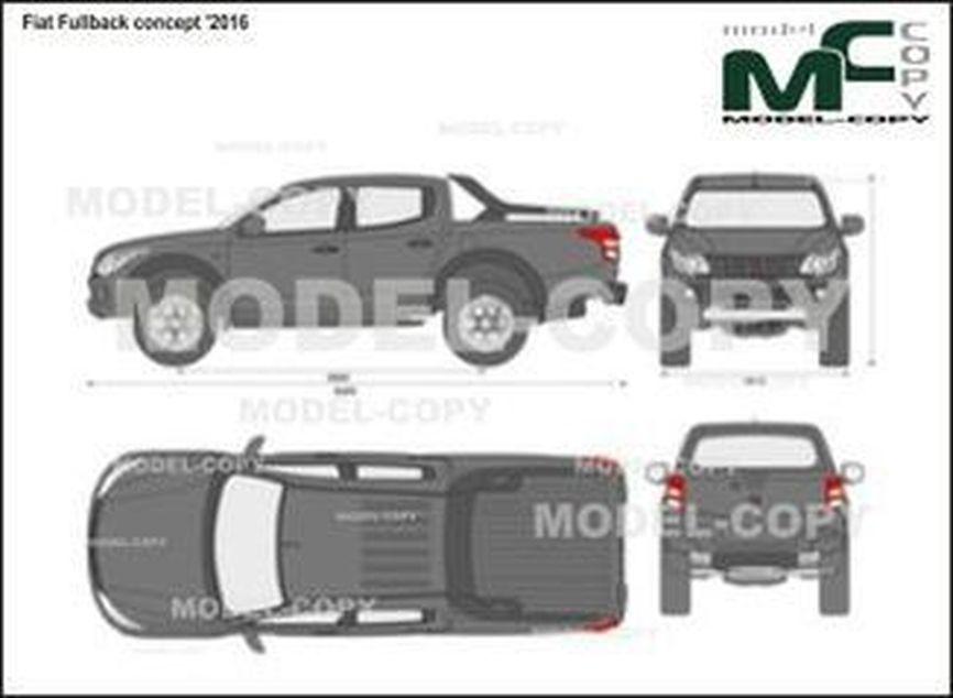 Fiat Fullback concept '2016 - 2D drawing (blueprints)