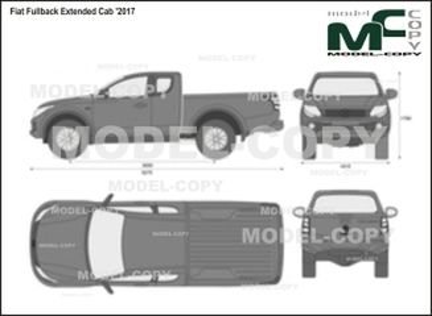 Fiat Fullback Extended Cab '2017 - 2D-чертеж