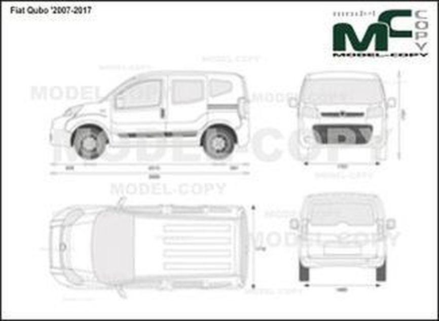 Fiat Qubo '2007-2017 - 2D drawing (blueprints)