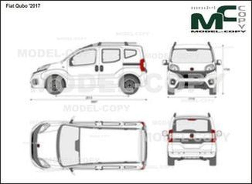 Fiat Qubo '2017 - 2D drawing (blueprints)