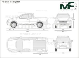 Fiat Strada Sporting '2009 - 2D drawing (blueprints)