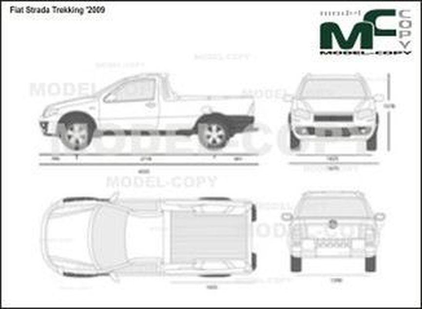 Fiat Strada Trekking '2009 - 2D図面