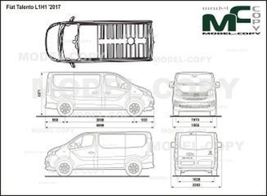 Fiat Talento L1H1 '2017 - 2D drawing (blueprints)