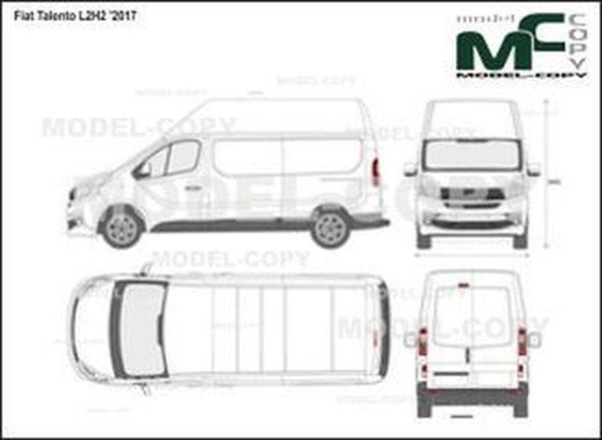Fiat Talento L2H2 '2017 - 2D-чертеж