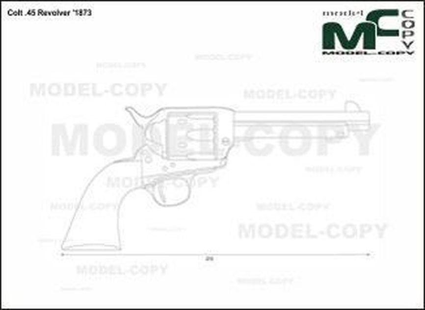Colt .45 Revolver '1873 - rysunek
