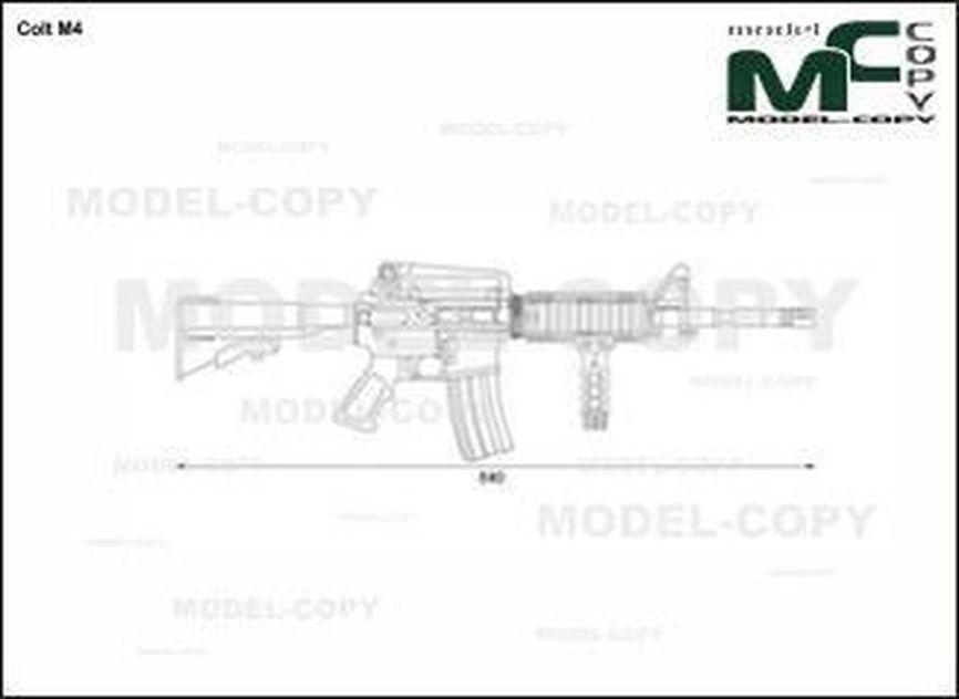Colt M4 - rysunek