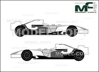 Force India VJM01 F1 GP (2008) - drawing
