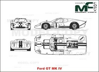 Ford Gt Mk Iv Drawing