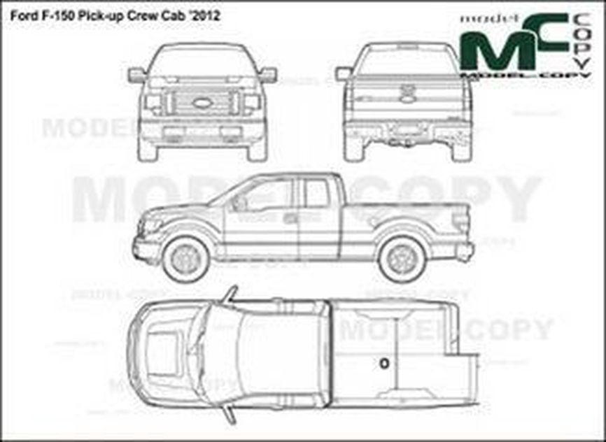 ford f-150 pick-up crew cab  u20192012 - tegning - 24249