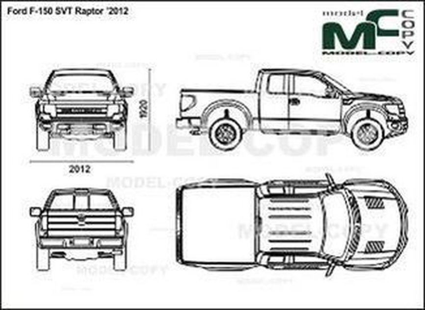 ford f-150 svt raptor  u20192012 - drawing - 24254