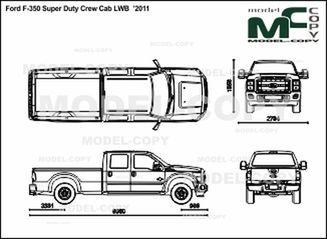 ford f-250 f-350 super duty  u20192011 - drawing